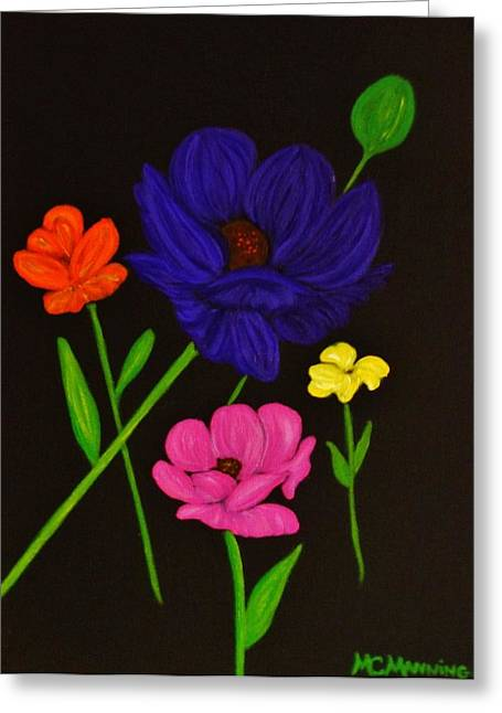 Flower Play Greeting Card by Celeste Manning