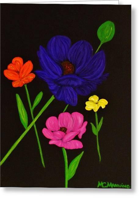 Flower Play Greeting Card