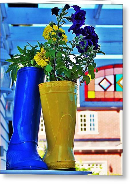 Flower Pots... Greeting Card