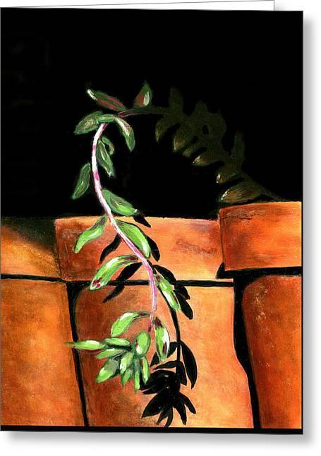 Flower Pots Greeting Card by Karyn Robinson