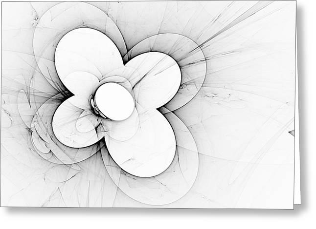Greeting Card featuring the digital art Flower Power by Arlene Sundby