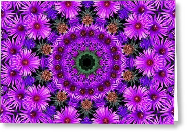 Flower Power Greeting Card by Kristie  Bonnewell