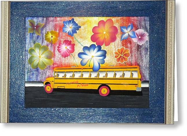 Flower Power Greeting Card by Ron Davidson