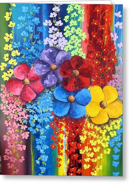 Flower Shower Greeting Card