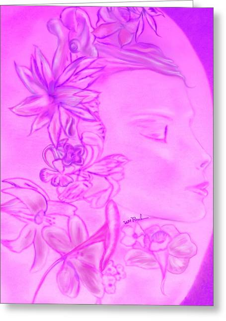 Flower Sprite Greeting Card by William  Paul Marlette