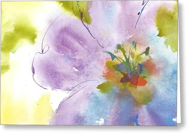Flower Tint Poppy II Greeting Card