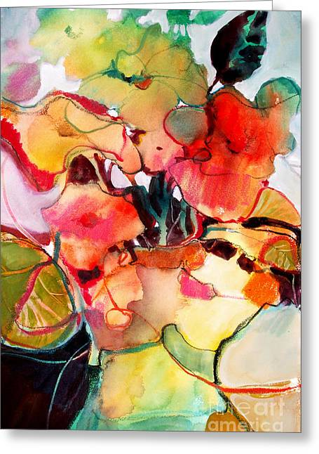 Greeting Card featuring the painting Flower Vase No. 2 by Michelle Abrams