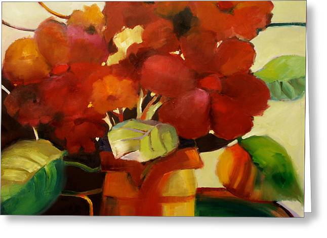 Greeting Card featuring the painting Flower Vase No. 3 by Michelle Abrams