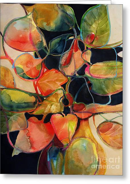 Greeting Card featuring the painting Flower Vase No. 5 by Michelle Abrams