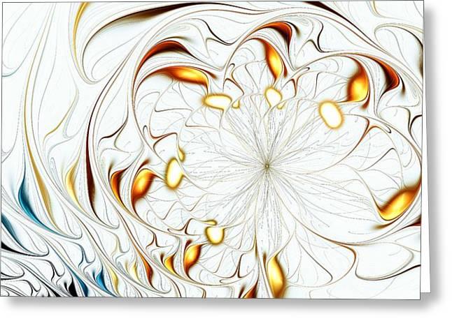 Flower Waves Greeting Card by Anastasiya Malakhova