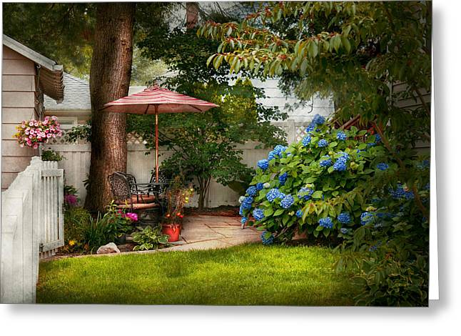 Flower - Westfield Nj - Private Paradise Greeting Card by Mike Savad