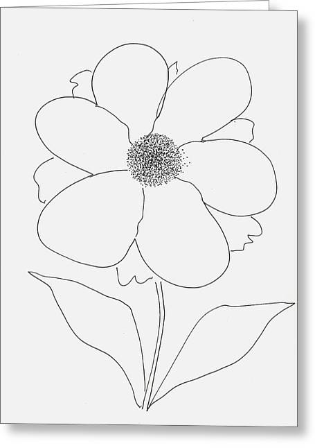 Flower With Pollen Greeting Card
