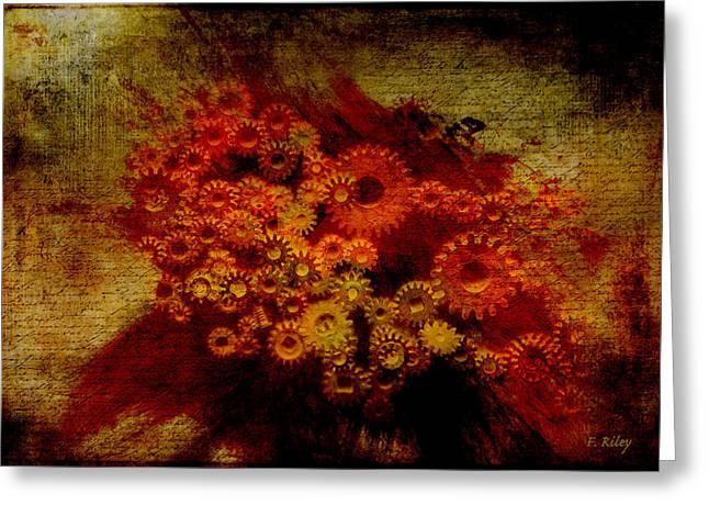 Flower Works Greeting Card by Fran Riley
