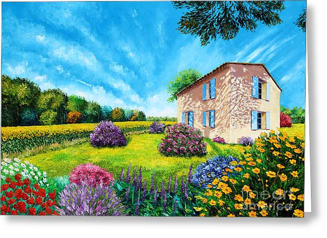 Flowered Garden Greeting Card by MGL Meiklejohn Graphics Licensing