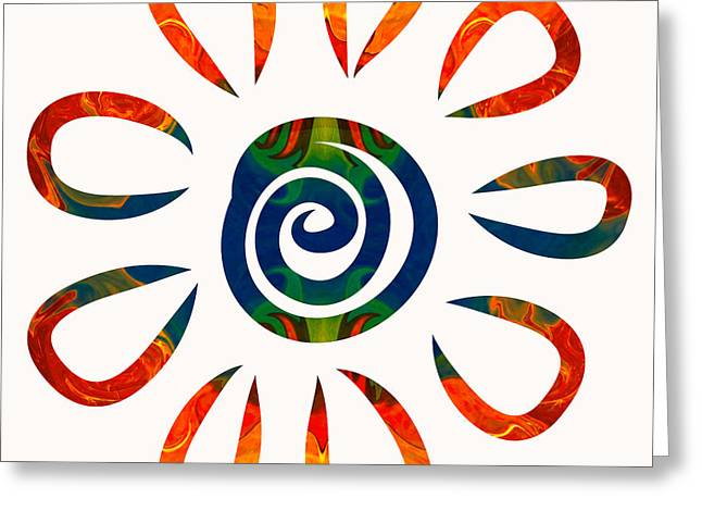 Flowering Abstract Colors By Omaste Witkowski Greeting Card by Omaste Witkowski