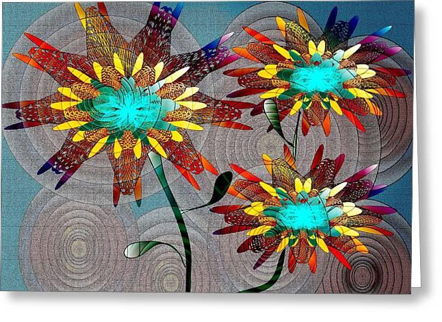Flowering Blooms Greeting Card