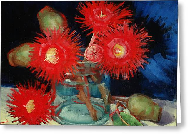 Flowering Gum Still Life Greeting Card