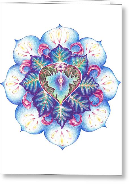 Flowering Of The Heart   Oneness Art Greeting Card