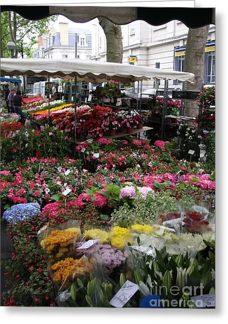 Flowermarket - Tours Greeting Card