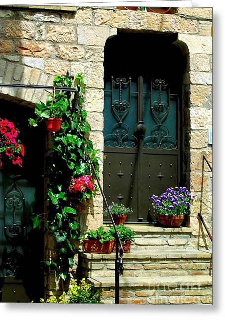 Greeting Card featuring the photograph Flowers 4-assisi by Theresa Ramos-DuVon
