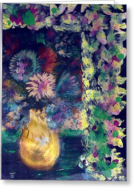 Flowers All Around Me Greeting Card by Anne-Elizabeth Whiteway