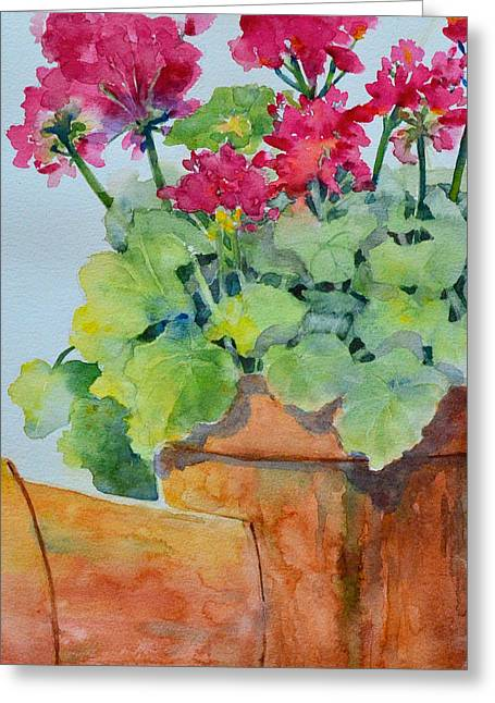 Flowers And Clay Pots Greeting Card