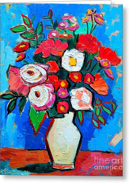 Flowers And Colors Greeting Card