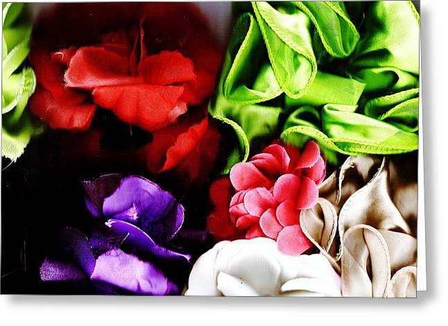 Flowers And Shadows Greeting Card by Anne-Elizabeth Whiteway