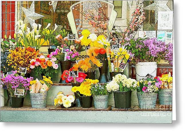 Flowers At The Bi-rite Market In San Francisco  Greeting Card