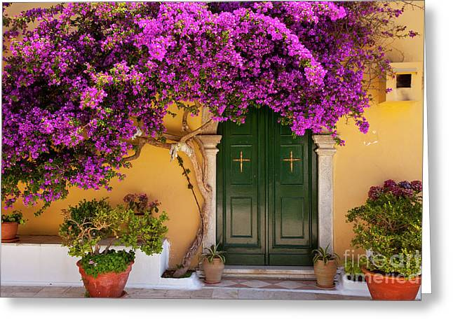 Flowers At The Monastery Greeting Card by Brian Jannsen