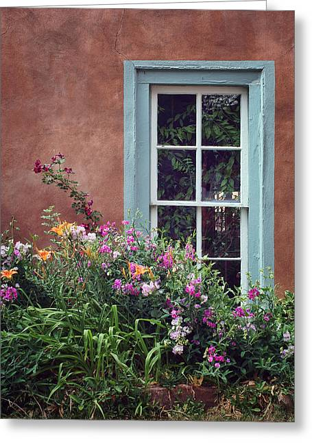 Flowers By The Window Greeting Card