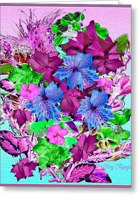 Flowers Designed Just For You Greeting Card by Ray Tapajna