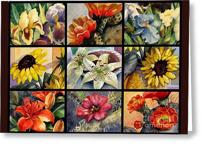 Flowers Everywhere Greeting Card by Marilyn Smith