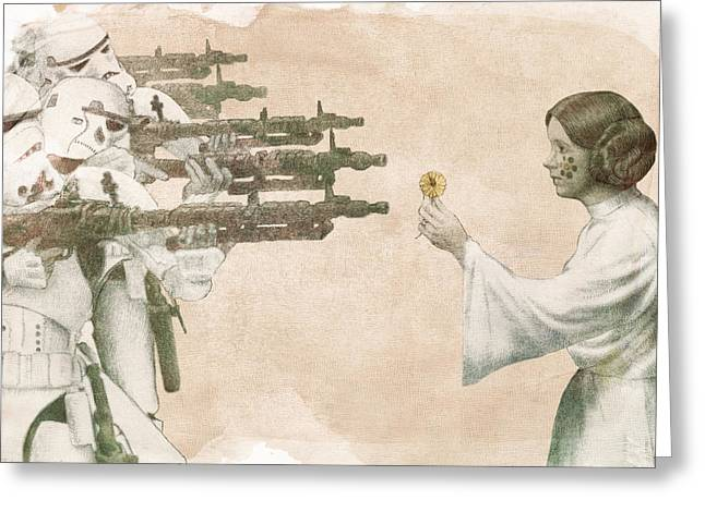 Flowers For Alderaan Greeting Card by Eric Fan
