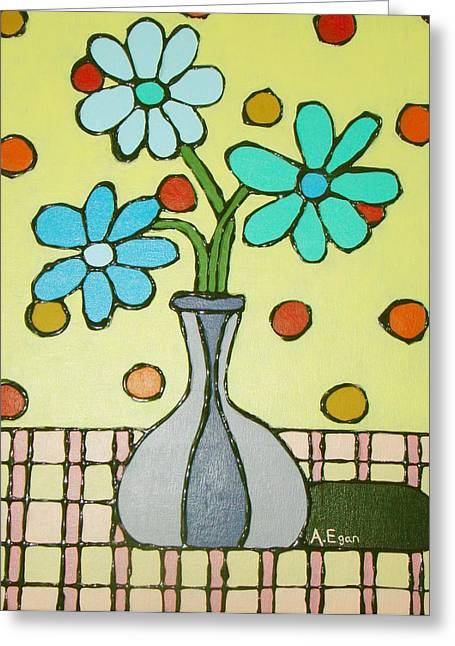 Flowers For Marcia Greeting Card by Annette Egan