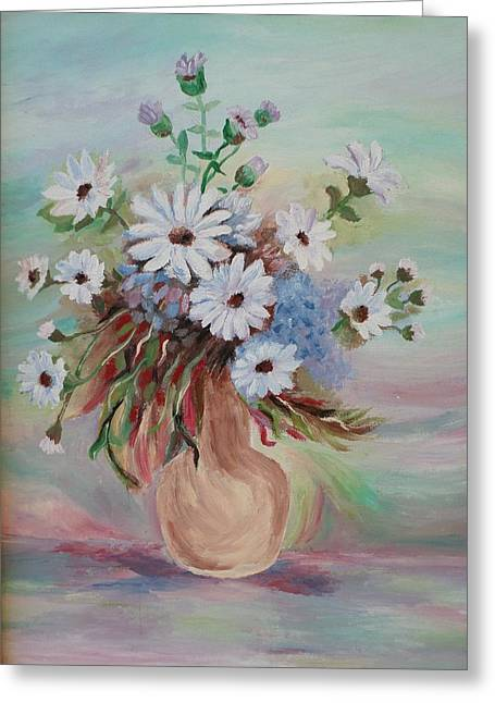 Greeting Card featuring the painting Flowers For Mom by Christy Saunders Church
