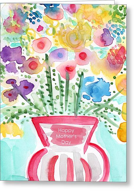 Flowers For Mom- Mother's Day Card Greeting Card by Linda Woods