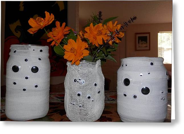 Halloween Flowers For Mummy Greeting Card