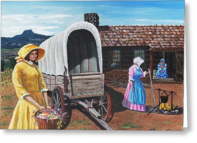 Flowers For The Homestead Greeting Card by Timithy L Gordon