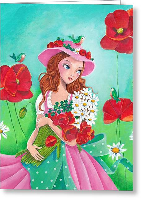 Flowers For You Greeting Card by Cartita Design