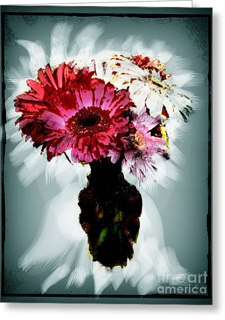 Flowers For You Greeting Card by Gerlinde Keating - Galleria GK Keating Associates Inc