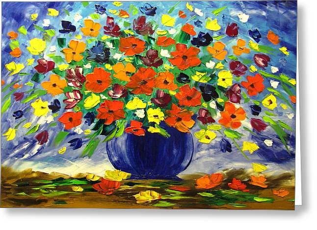Flowers For You Greeting Card by Mariana Stauffer