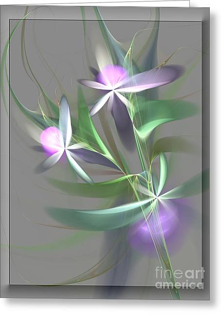 Flowers For You Greeting Card by Svetlana Nikolova