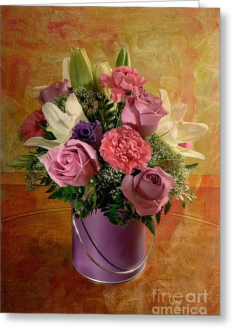 Flowers From A Friend Greeting Card