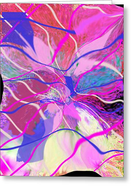 Original Contemporary Abstract Art Flowers From Heaven Greeting Card by RjFxx at beautifullart com