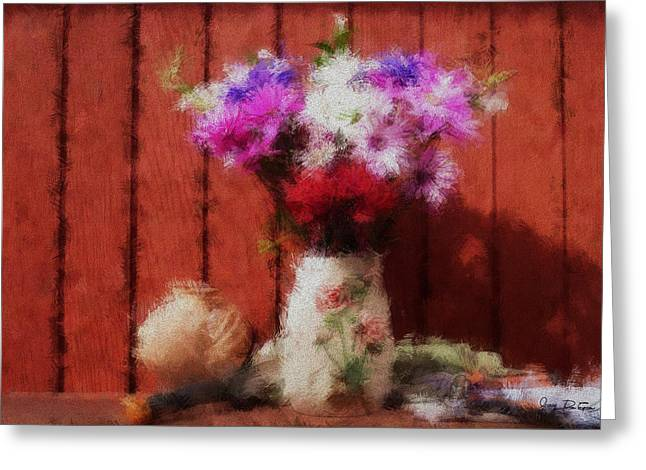 Flowers From My Garden Greeting Card