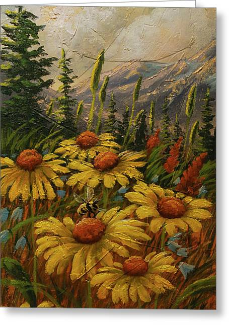 Flowers From The Forest Greeting Card