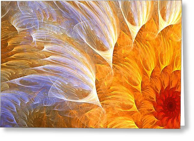 Flower's Glow Greeting Card