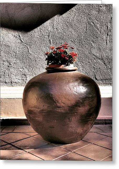 Flowers In A Pot Greeting Card by Bill Grolz