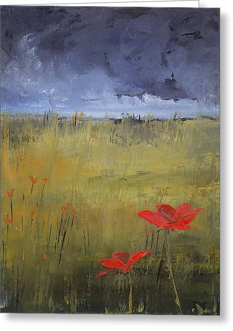 Flowers In A Storm Greeting Card
